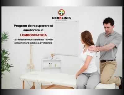 Recuperare Medicala in Lombosciatica Cost 2000 lei/11 nopti NeoKlinik Statiunea Moneasa