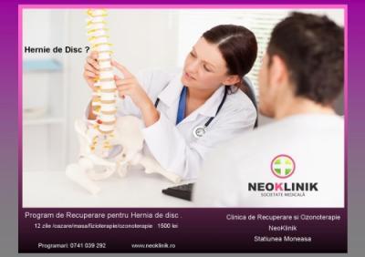 Tratament Recuperator in Hernie de Disc Lombara la NeoKlinik in Statiunea Moneasa